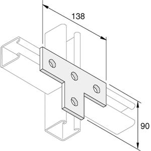 4 Hole Flat Channel T Brackets